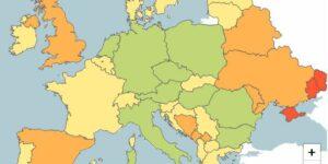 Corona Kaart Europa