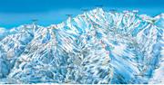 Skigebied Les 3 Vallées pistekaart