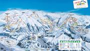 Skigebied Zillertal Arena pistekaart